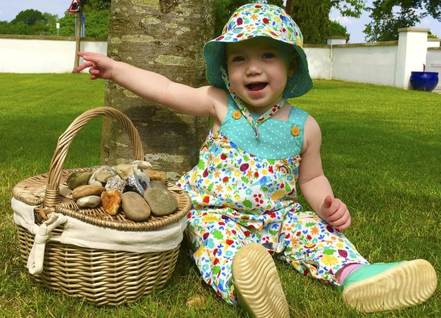 Toddler Beatrice George has raised nearly £30,000 for the NHS. Picture: Matthew George SWNS