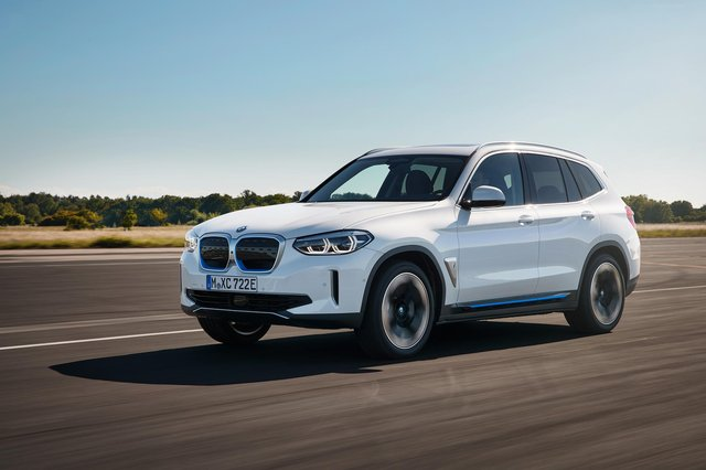 BMW says the iX3's 282bhp electric motor, driving the rear axle will propel the car from 0-62mph in 6.8 seconds