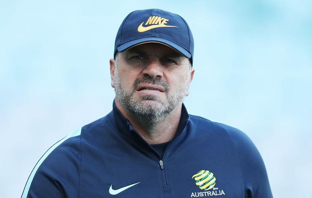 Australia Coach Ange Postecoglou looks on during an Australia Socceroos training session at ANZ Stadium ahead of their World Cup 2018 qualifying play-off  against Honduras on November 13, 2017 in Sydney, Australia.  (Photo by Mark Metcalfe/Getty Images)