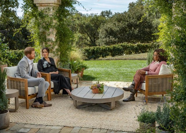 The Duke and Duchess of Sussex's televised interview with Oprah Winfrey unleashed a dramatic set of bombshell revelations. (Joe Pugliese via Getty Images)