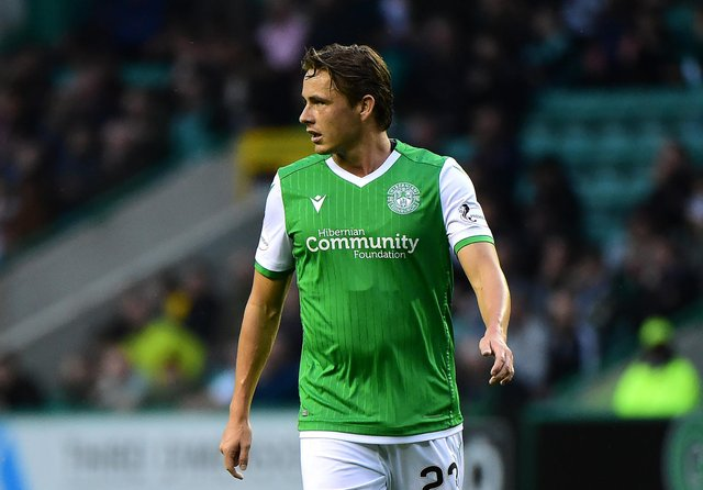 Scott Allan in action at the start of his third spell at Hibernian, the club where he's always played his best football