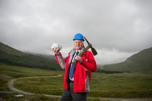Richard Gray is the chief executive of Scotgold Resources, the company behind the development of a precious metals mine near Tyndrum. Picture: John Devlin