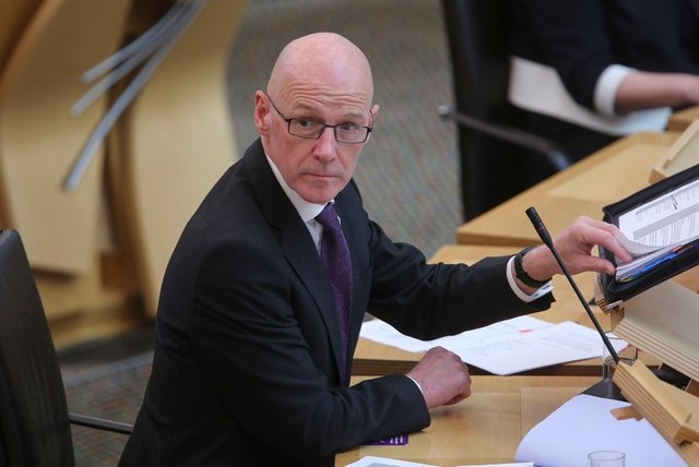 Deputy First Minister John Swinney pictured earlier this year (Picture: Fraser Bremner-WPA Pool/Getty Images)