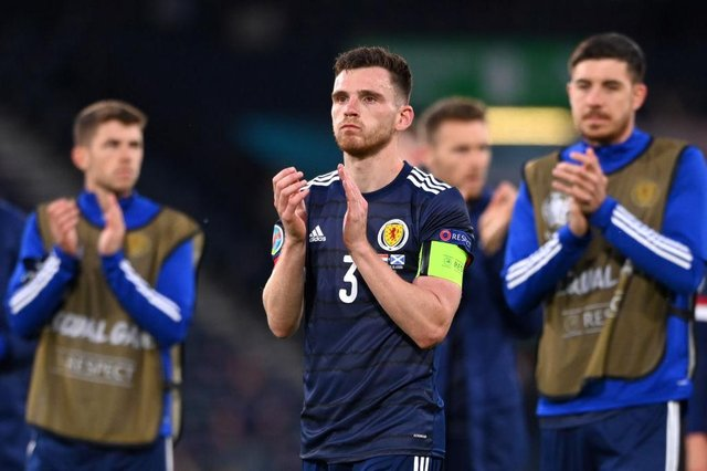 Andy Robertson was left gutted at Scotland's exit. (Photo by Stu Forster/Getty Images)
