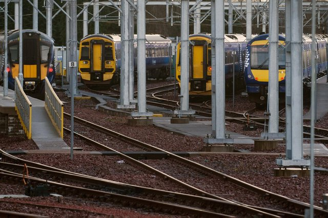 ScotRail is expected to reduced services from 80 to around 65 per cent of normal from next month. Picture: John Devlin