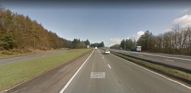 The crash happened at around 4.50pm on Wednesday June 30 at the M80 Junction 8 southbound.