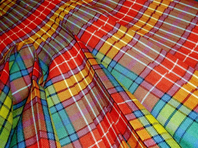 A kilt under construction at the Keith Kilt School in Moray. Picture: Jonathan Faiers