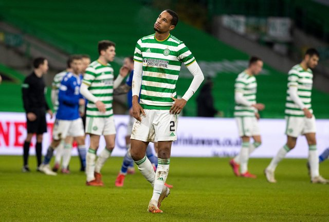A downbeat Christopher Jullien at full-time as Celtic were held to a 1-1 draw by St Johnstone. Picture: SNS