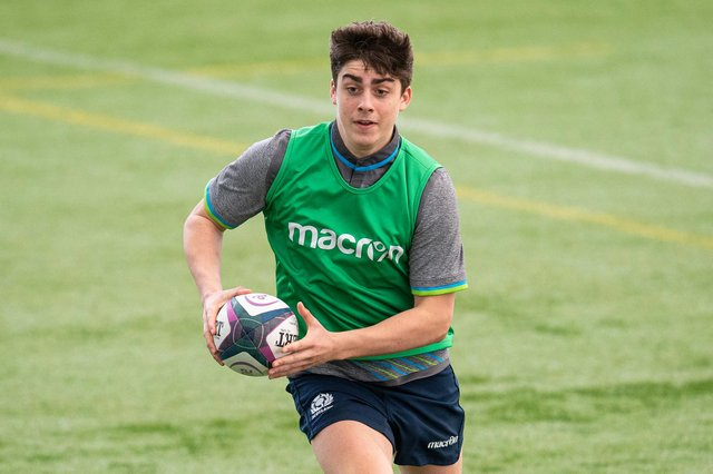Murray Redpath during a Scotland Under-20 training session at Oriam. Picture: Ross MacDonald/SNS