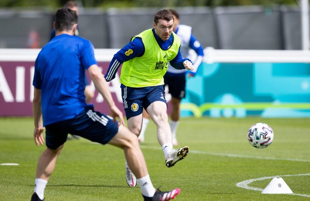 John Fleck has returned to Scotland training after testing positive for Covid-19. (Photo by Craig Williamson / SNS Group)