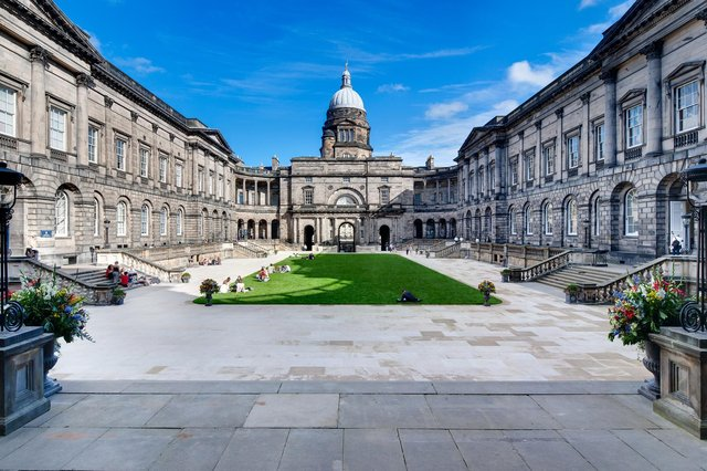 Edinburgh University Old College quad. Picture: Neale Smith