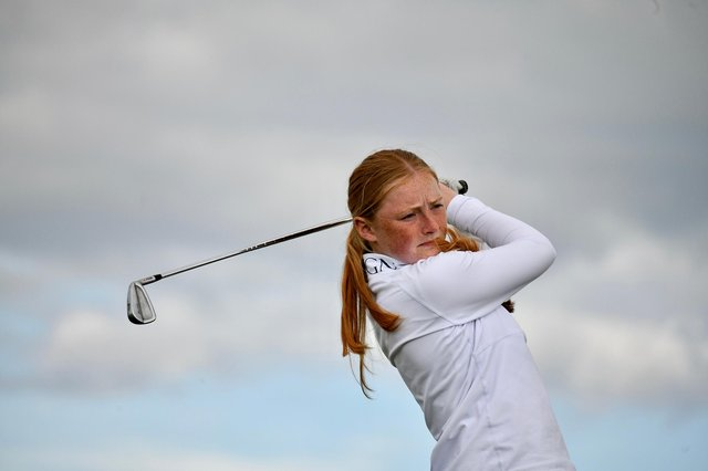 West Kilbride's Louise Duncan topped the 16 qualifiers for the match-play stage in the Scottish Women's Championship at Gullane. Picture: Scottish Golf.
