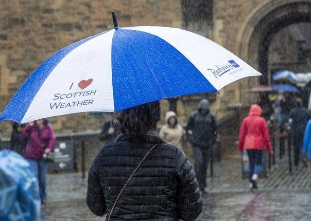 It's a wet and windy Bank Holiday Monday across Scotland.