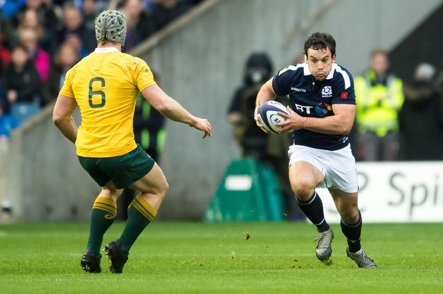 John Hardie in action for Scotland against Australia during the 2016 autumn internationals. Picture: Bill Murray/SNS