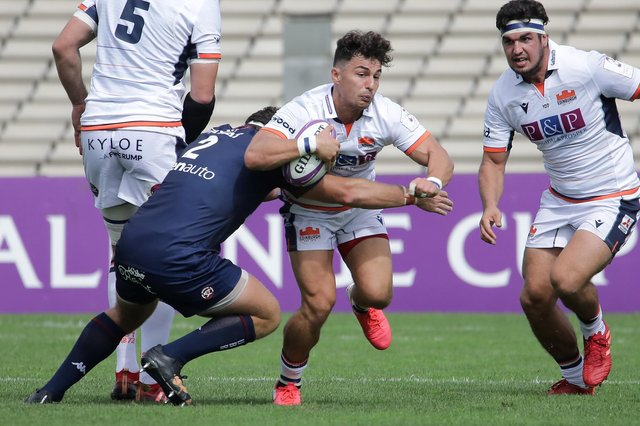 Tryscorer Damien Hoyland on the attack in Bordeaux on Saturday. Picture: Thibaud Moritz/AFP/Getty Images