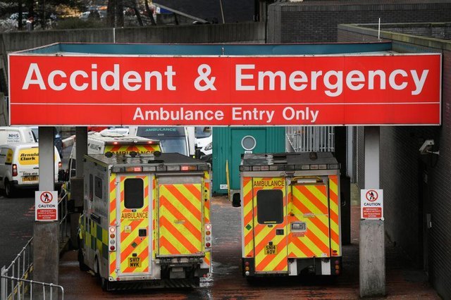 Ambulances at the Glasgow Royal Hospital. Photo by Jeff J Mitchell/Getty Images
