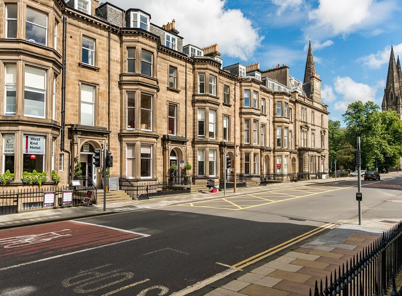 The West End Hotel, in Edinburgh's Palmerston Place,  offers a prime development opportunity
