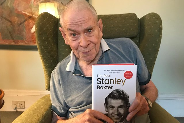 Stanley Baxter pictured recently at his home in London. Picture: David Holt