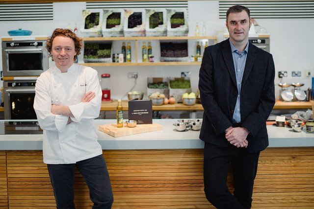 Chef and culinary ambassador Tom Kitchin with Compass Scotland managing director David Hay. The catering firm recently pledged to create 100 apprenticeship opportunities in Scotland over the next year. Picture: @Schnappsphoto