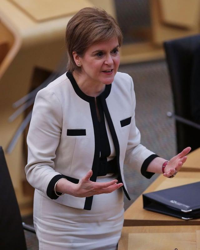 Nicola Sturgeon has denied the allegations made by David Davis MP.