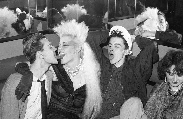 Angela Farley, dancer with Frankie Goes to Hollywood, headed north from Liverpool for a night out at Maestro's after hearing about the club. She wasn't disappointed. Picture by Simon Clegg.