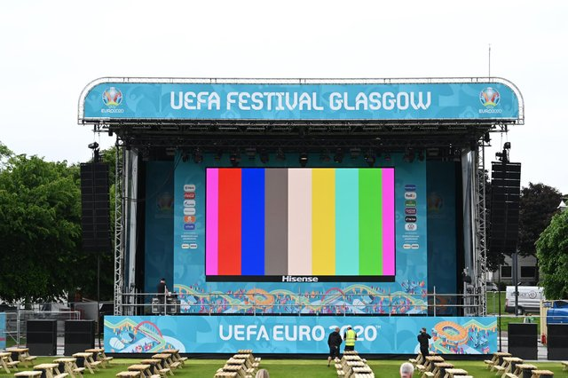 As final preparations are made to the UEFA EURO 2020 Fan Zone at Glasgow Green supporters are being urged to take Covid-19 tests before arriving at the venue.
