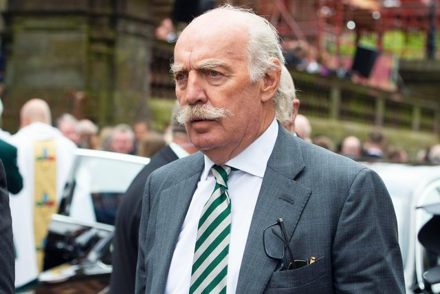 Celtic major shareholder Dermot Desmond has been in discussions for a year with Peter Lawwell about his departure from the chief executive role, according to Lennon. (Photo by Paul Devlin/SNS Group).