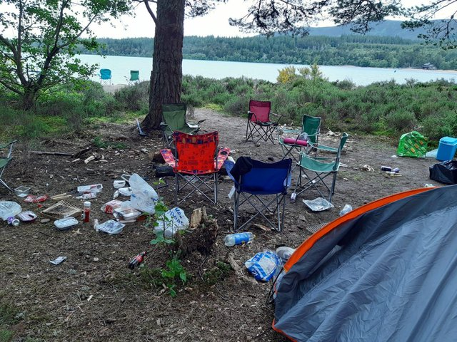 Picture of the scene at Glenmore where the group of males were camping on 26 June.