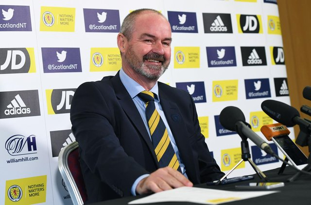 GLASGOW, SCOTLAND - OCTOBER 01: Scotland manager Steve Clarke is pictured during a Scotland press conference as he announces his squad for the UEFA Euro 2020 qualifying matches against Russia and San Marino on October 01, 2019, in Glasgow, Scotland. (Photo by Craig Williamson / SNS Group)