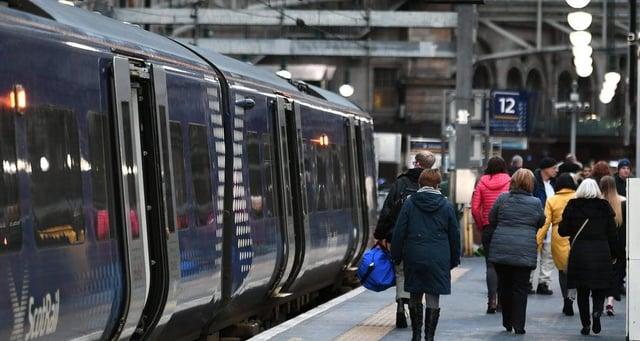 Trains delayed leaving and arriving at Edinburgh Waverley picture: JPI Media