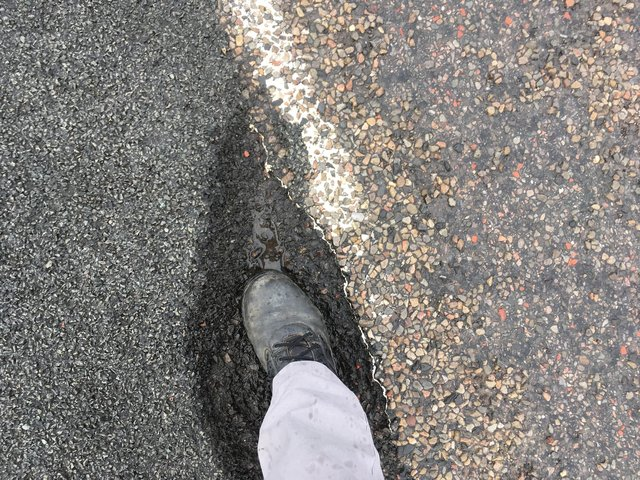 Some potholes on the A836 section between Tongue and Bettyhill are large enough to stand in. Picture: Pete Malone