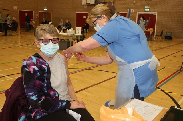 Vaccination began at the Citadel Centre in Ayr on Monday.