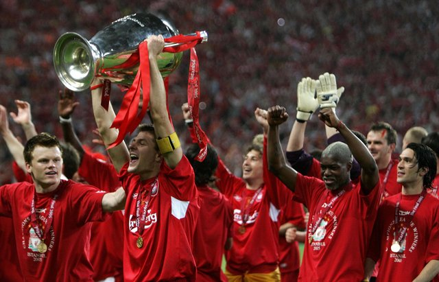Steven Gerrard says winning the Premiership title as Rangers manager would stand alongside his achievement of winning the Champions League as Liverpool captain in 2005. (Photo by Filippo Monteforte/AFP via Getty Images)