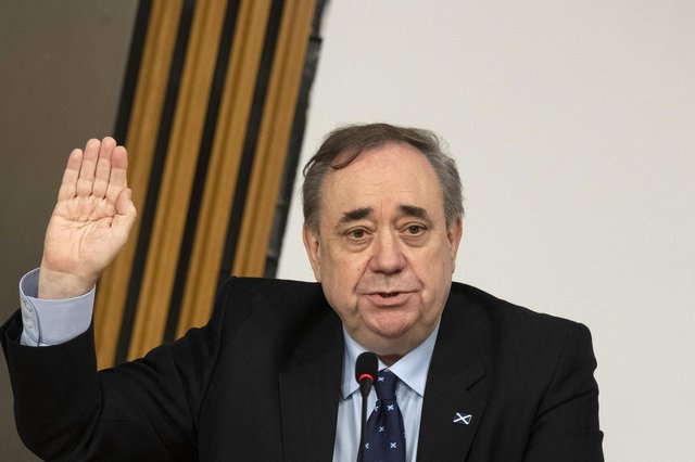 Former First Minister Alex Salmond is sworn in before giving evidence to the Scottish Parliament committee investigating the government's mishandling of complaints made against him (Picture: Andy Buchanan/PA Wire)