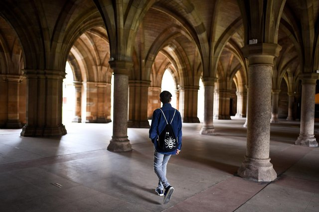 Glasgow University is one of the worst-hit so far in the UK, as at least 45 universities have confirmed coronavirus outbreaks - including 11 institutions in Scotland. (Photo by Jeff J Mitchell/Getty Images)