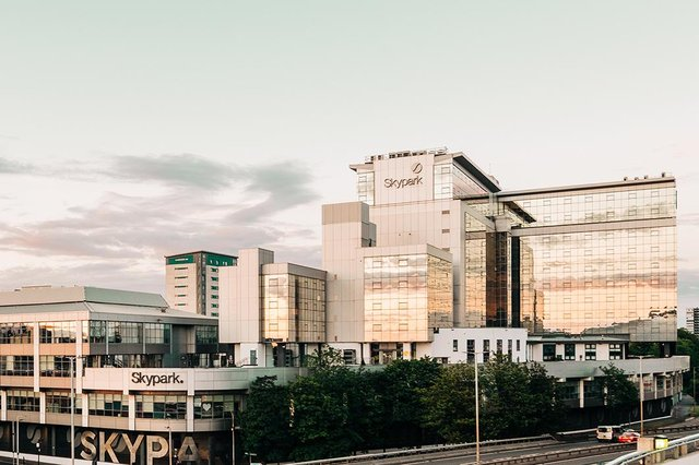 Skypark is described as one of Scotland's 'biggest and most vibrant business destinations' comprising six buildings totalling 560,000 sq ft and a workforce of almost 4,000 people. It is currently home to more than 50 businesses. Picture: Kris Kesiak