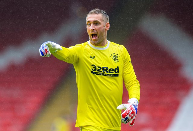 Rangers goalkeeper Allan McGregor, who celebrated his 39th birthday in January, is out of contract at the end of the season. (Photo by Willie Vass/Pool via Getty Images)
