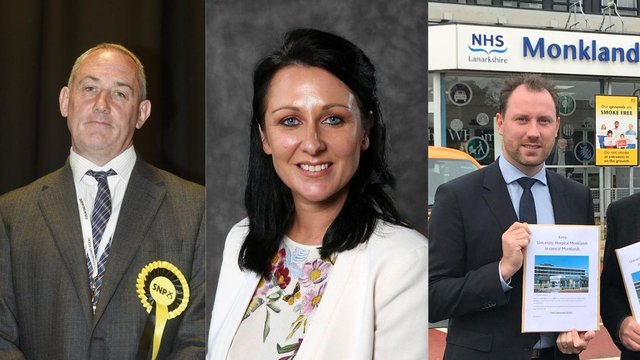 Left to Right: Paul McLennan for East Lothian, Siobhian Brown for Ayr and Neil Gray for Airdrie & Shotts.