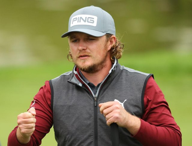 Eddie Pepperell during the second round of the Betfred British Masters hosted by Danny Willett at The Belfry in Sutton Coldfield. Picture: Andrew Redington/Getty Images.