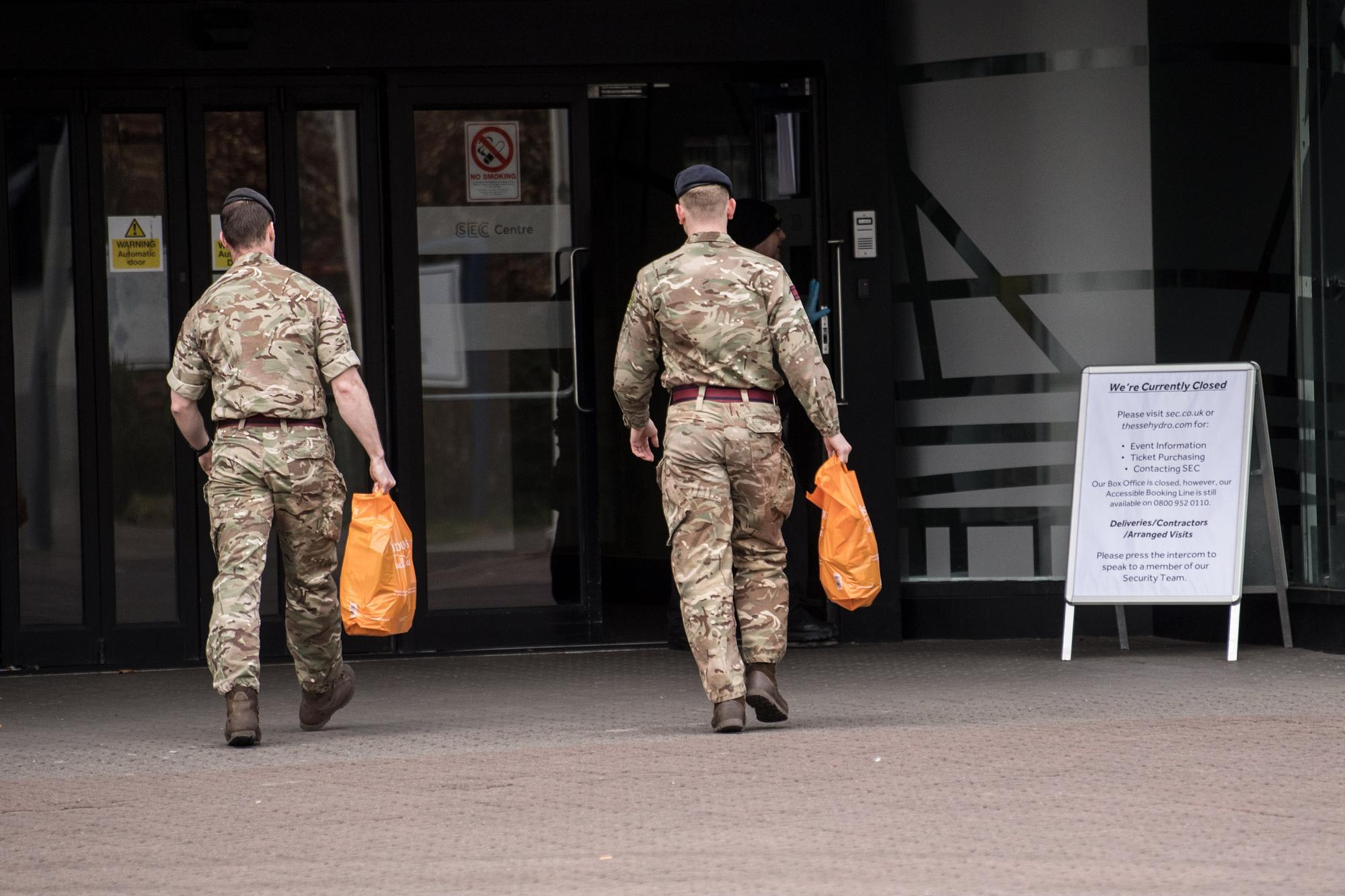 Army in place at Glasgow's SEC amid plans for pandemic field hospital