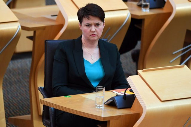 Leader of the Scottish Conservative Party Ruth Davidson during First Minister's Questions at the Scottish Parliament in Holyrood. Picture: Andy Buchanan/PA Wire