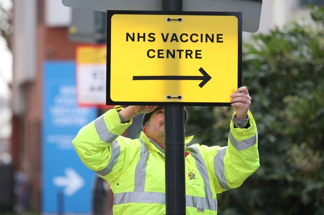 More than 1,000 vaccination centres have been set up in Scotland.