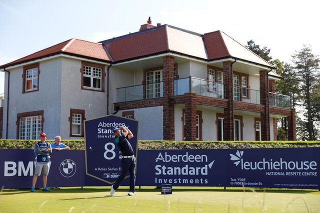 Padraig Harrington tees off on the eighth hole during the pro-am for the 2019 Aberdeen Standard Investments Scottish Open at The Renaissance Club. Picture: Kevin C. Cox/Getty Images.