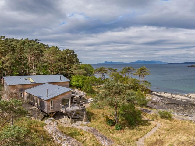 Roshven Sea House sits on a prime spot on the rugged Scottish Highlands coast.