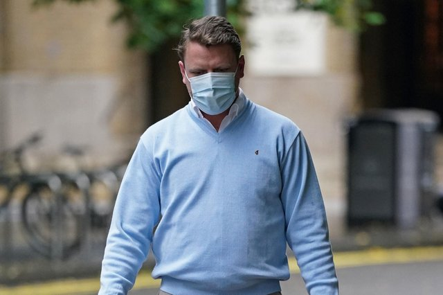 Paul Ritchie arrives at Southwark Crown Court in London