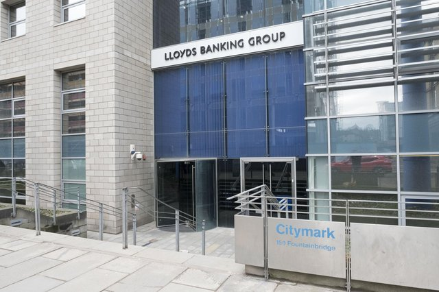 Lloyds Banking Group building at Fountainbridge in Edinburgh. Picture: Ian Rutherford