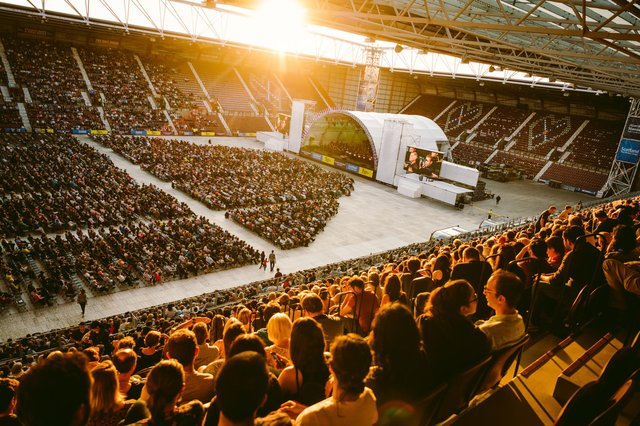 The Edinburgh International Festival moved its opening event out of the city centre to Tynecastle Park in 2019.