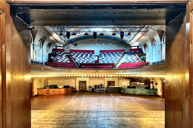 The actor's view of Leith Theatre's main hall, taken from backstage