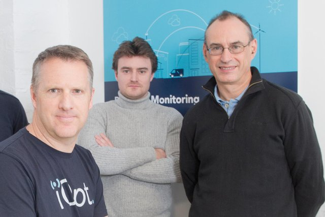 From left: MD Dane Ralston, head of tech Jack Slater and operations boss Stewart Carruth. Picture: Marc Turner.