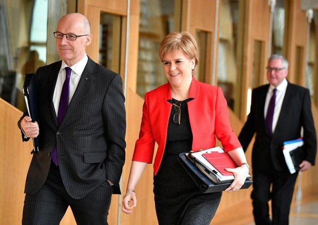 """In a letter to Linda Fabiani, the convener of the committee looking into the handling of complaints against Mr Salmond, in December, Mr Swinney said he was keen to find a """"practical way"""" that the advice could be handed over to the committee, but no such arrangement has been put in place. (Photo by Jeff J Mitchell/Getty Images)"""